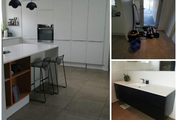 Rengøring af køkken og toilet
