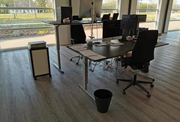 Rengøring af kontorområde